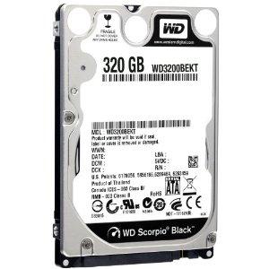Recupero da Hard Disk Western Digital 320 gb WD3200BEKT